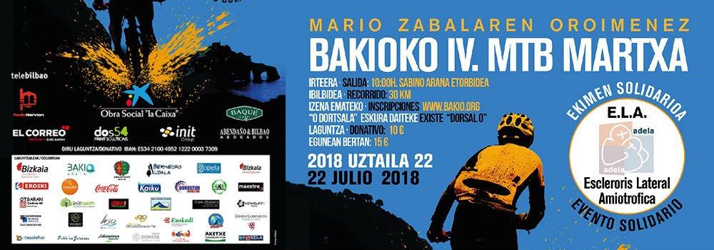 Marcha de mountain bike solidaria de Bakio