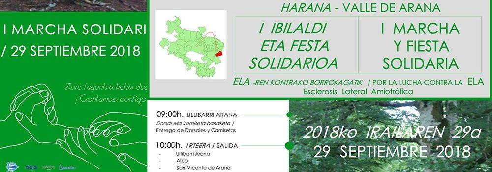 I Marcha y fiesta solidaria (Harana – Valle de Arana)