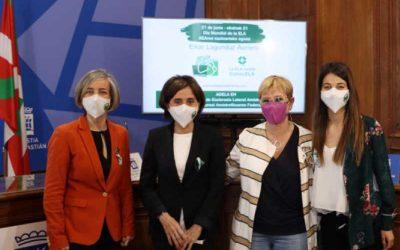 """Presentación de la iniciativa """"LUZ POR LA ELA"""" en Donostia"""